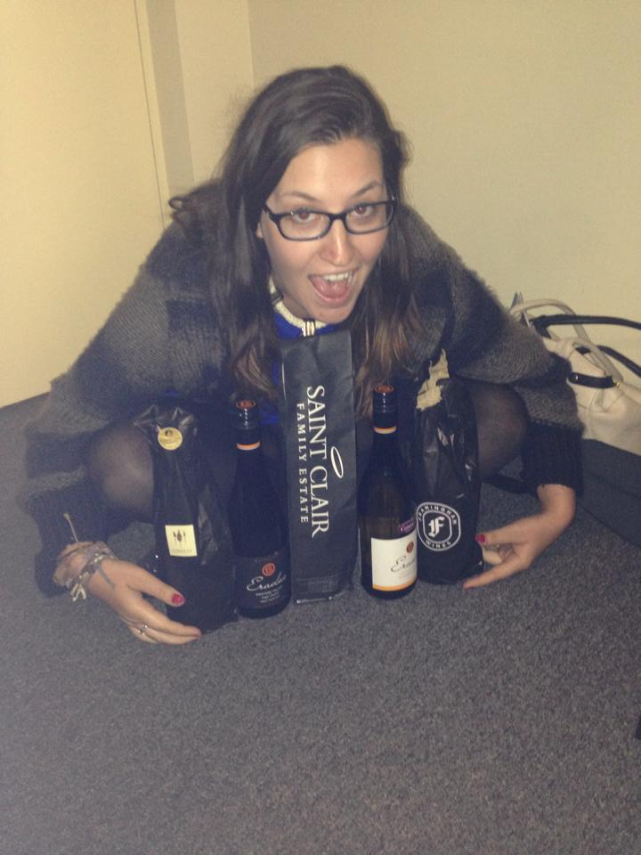 All the wine!