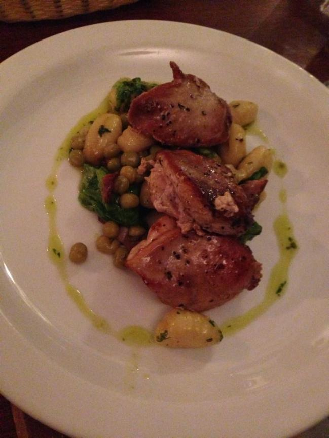 Partridge and Herbed Gnocchi