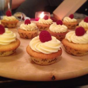 White Choc and Raspberry Cupcakes