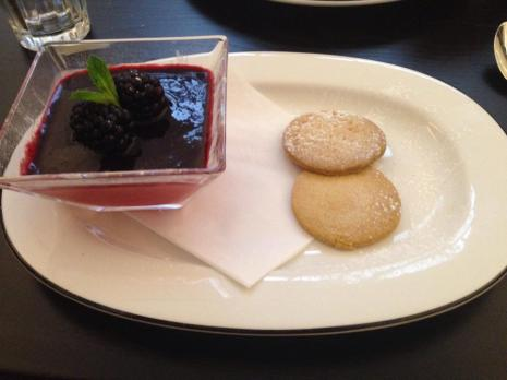 Blackberry Posset with Vanilla Shortbread