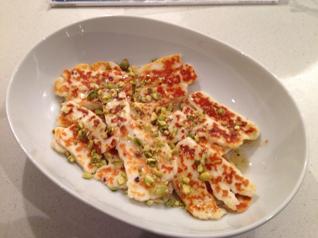 Halloumi with Honey and Pistachios