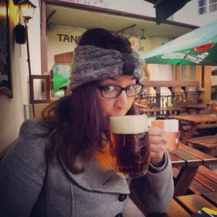 Drinking Czech Beer in Prague