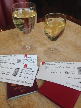 Wine Before the Flight to Australia