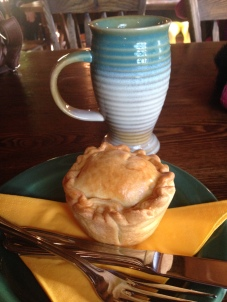 Pie and Cider at The Green Dragon, Hobbiton