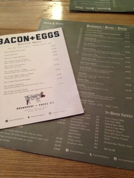 The Crafty Pig Menus