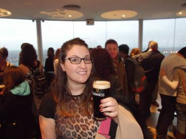 Pint at the Guinness Storehouse