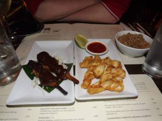 Chicken Satay & Squid