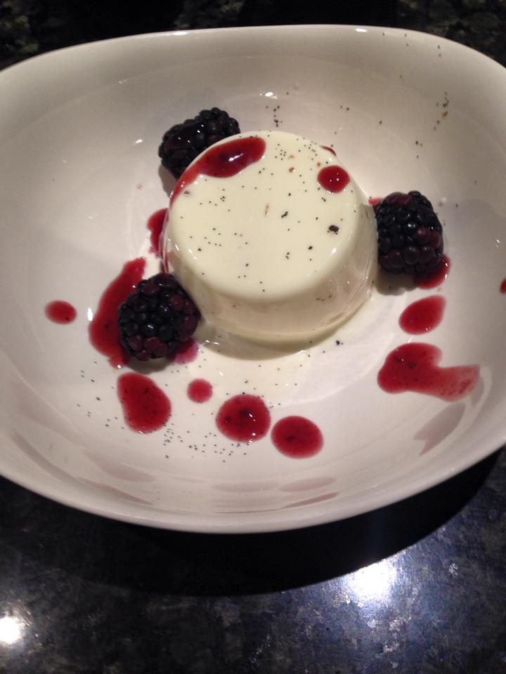 Panna Cotta with Blackberries and Fruit Coulis