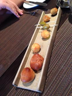 Canapes at Cail Bruich