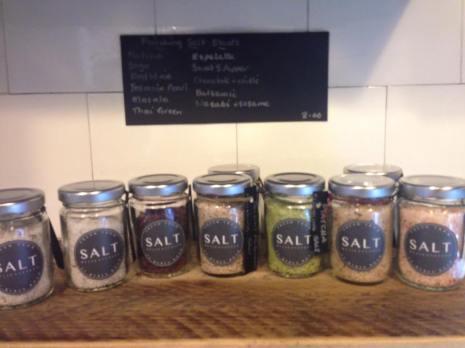 Finishing salts at SALT Deli