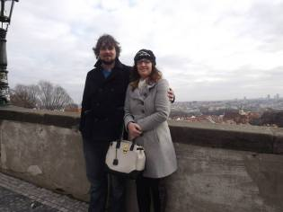 Posing in Prague
