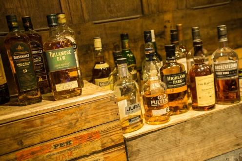 Kitty O'Shea's selection of whisky
