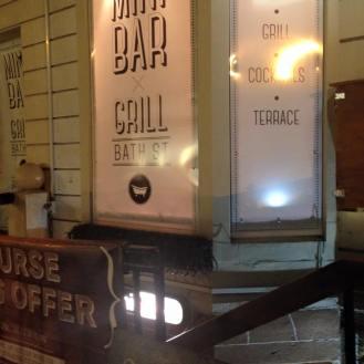 Outside Mini Bar