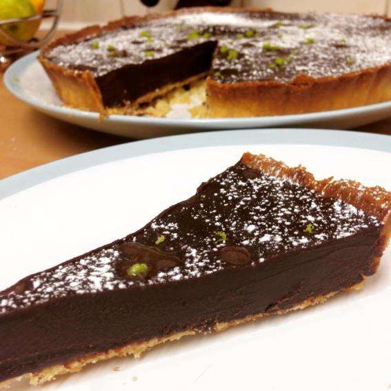 Chocolate, Chilli and Lime Tart