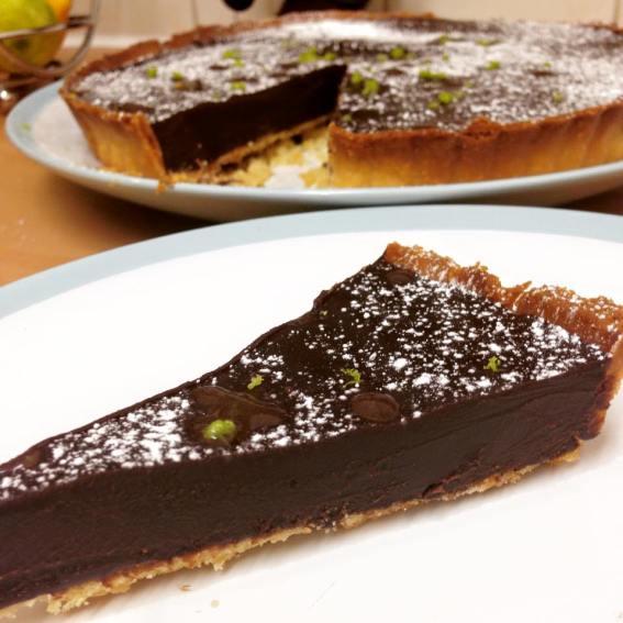 Chocolate, Chilli and Lime Tart