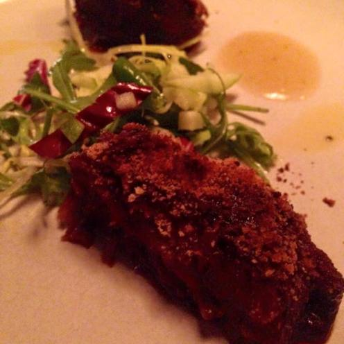 Crispy Pigs Cheeks at Meat Bar