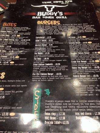Buddy's Menu