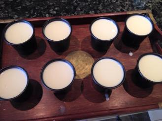 Step 7: White Choc & Coconut Panna Cotta