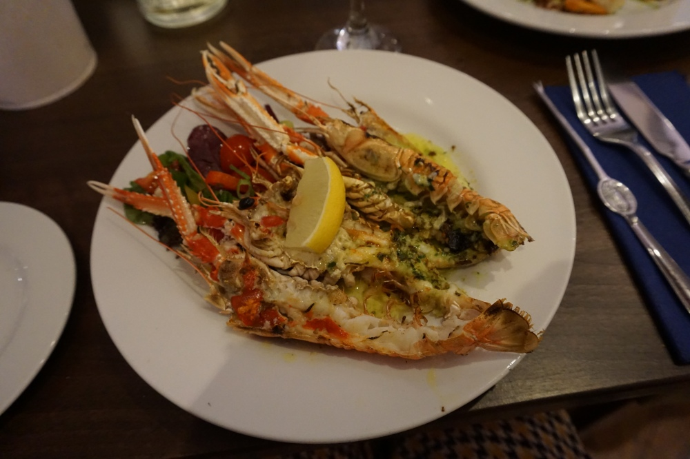 Langoustines at the Starfish Restaurant