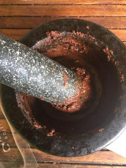 Making chocolate in St Lucia