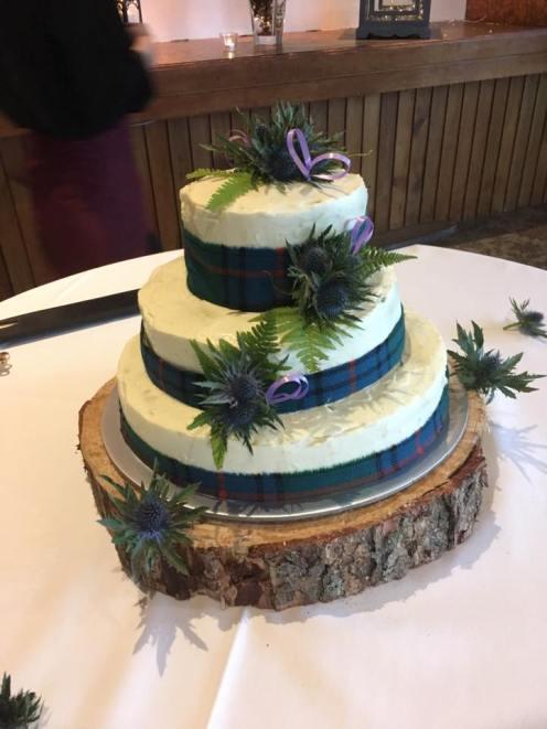 The wedding cake I made!
