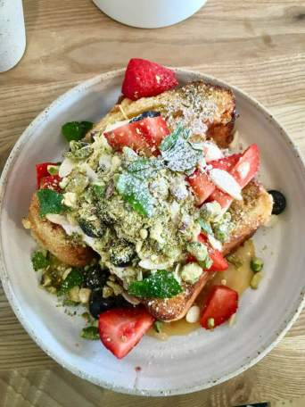 Babka French toast at Kaf